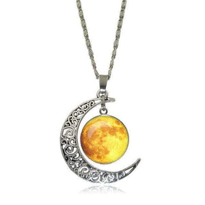 Double Moon Necklace (8 Colors) WickedAF 2