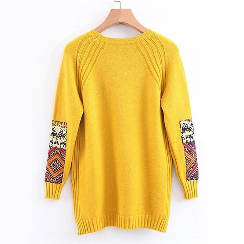 Patchwork Ribbed Sweater WickedAF