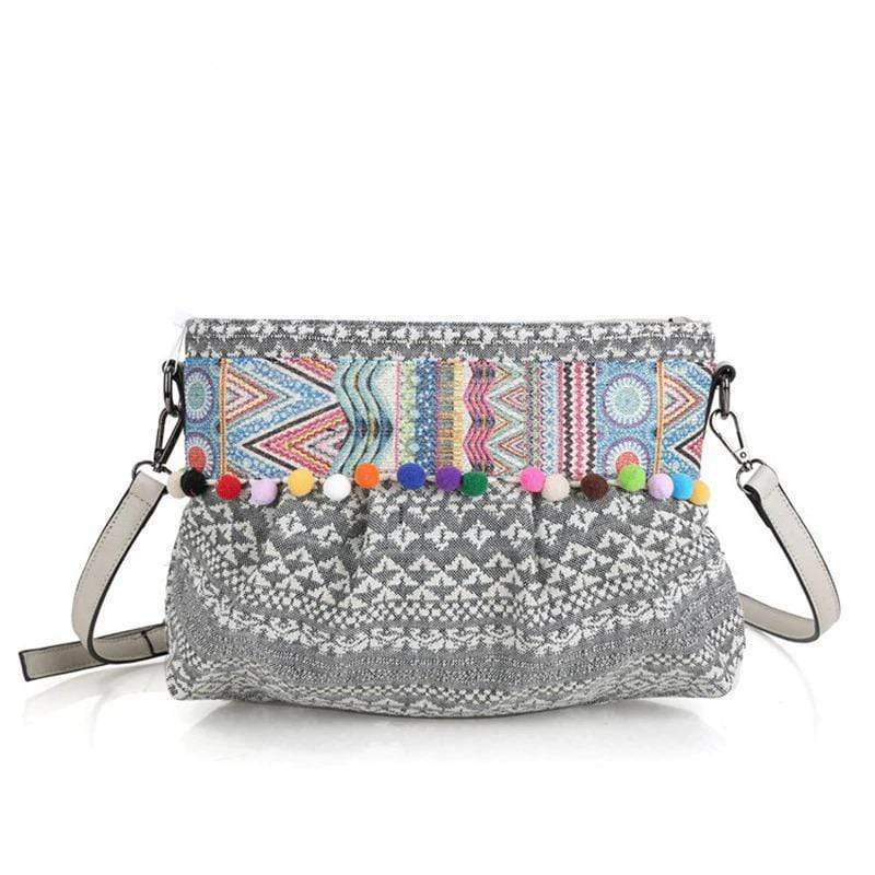 Ethnic Pom Pom Shoulder Bag WickedAF