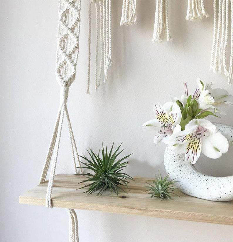 Macrame Hanging Shelf WickedAF
