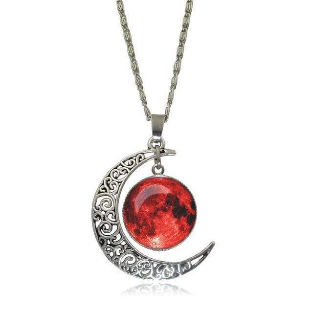 Double Moon Necklace (8 Colors) WickedAF 4