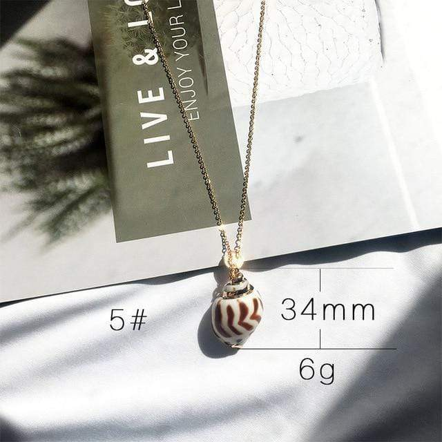 Sea Shell Pendant Necklace (13 Styles) WickedAF 5