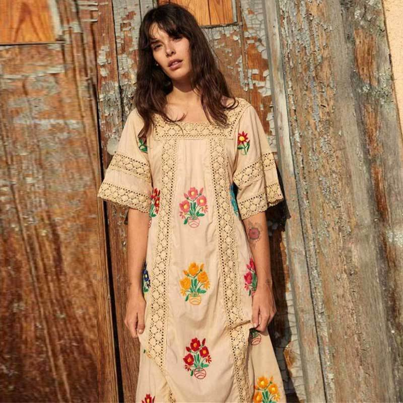 All on Embroidered Lace Maxi Dress WickedAF