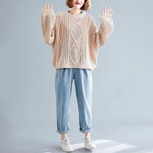 Chunky Speckled Sweater (4 Colors) WickedAF Apticot