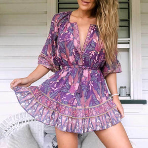 WickedAF ARIBA Mini Dress - Purple
