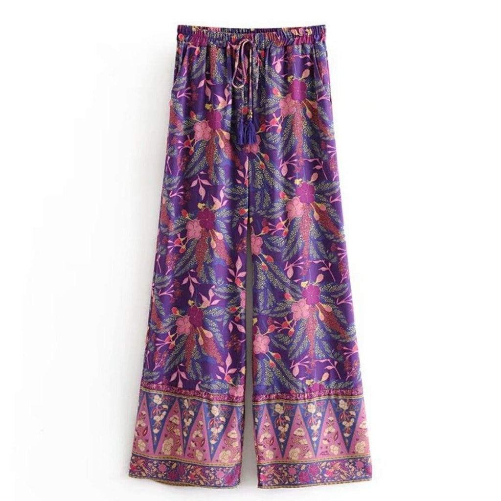 WickedAF ARIBA Wide Leg Pants - Purple