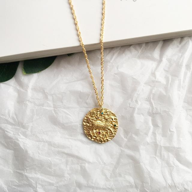 Zodiac Sign Coin Necklaces WickedAF Aries