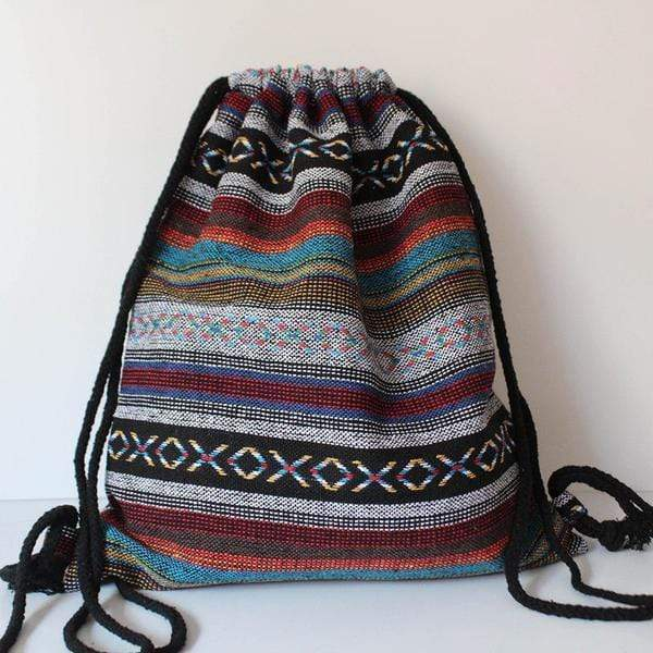 Hippie Drawstring Backpack (5 Styles) backpack WickedAF 1