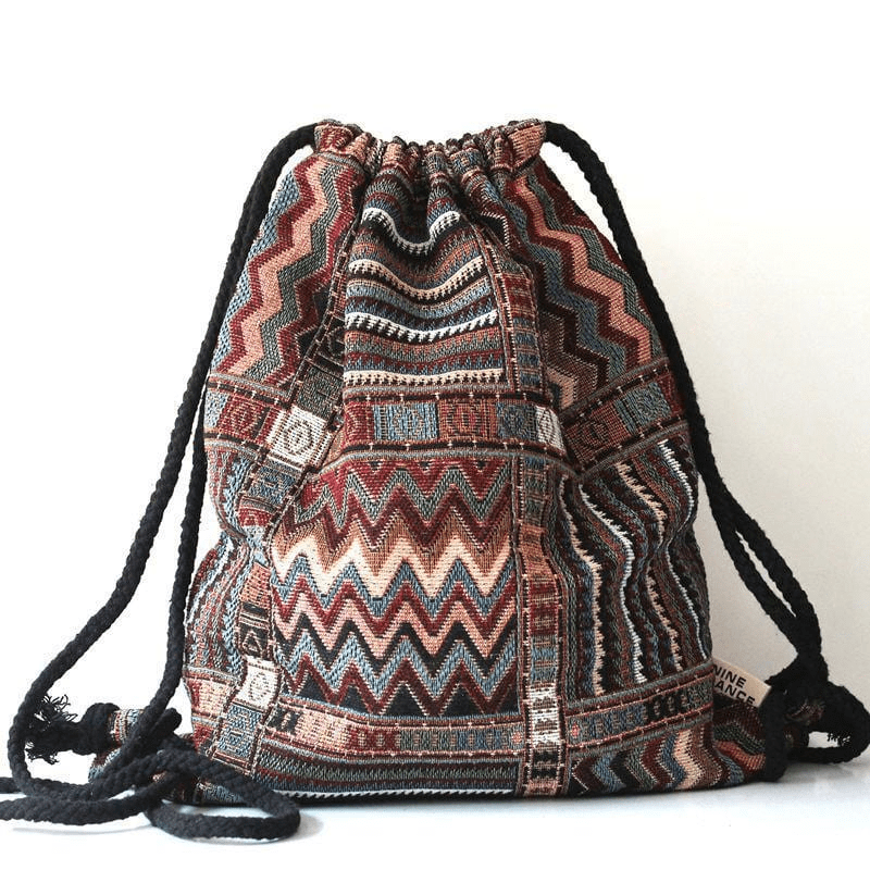 Hippie Drawstring Backpack (5 Styles) backpack WickedAF 2