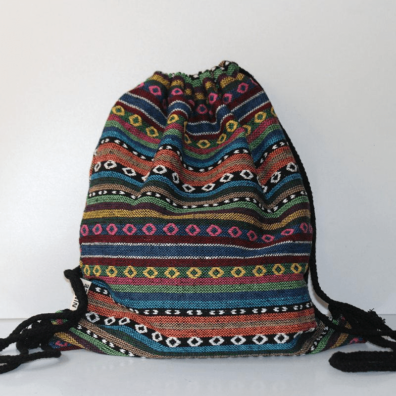 Hippie Drawstring Backpack (5 Styles) backpack WickedAF 4