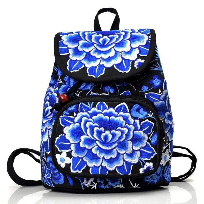 Eartha Embroidered Hippie Backpack backpack WickedAF