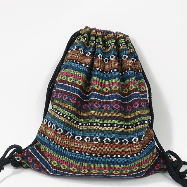 Hippie Drawstring Backpack (5 Styles) backpack WickedAF