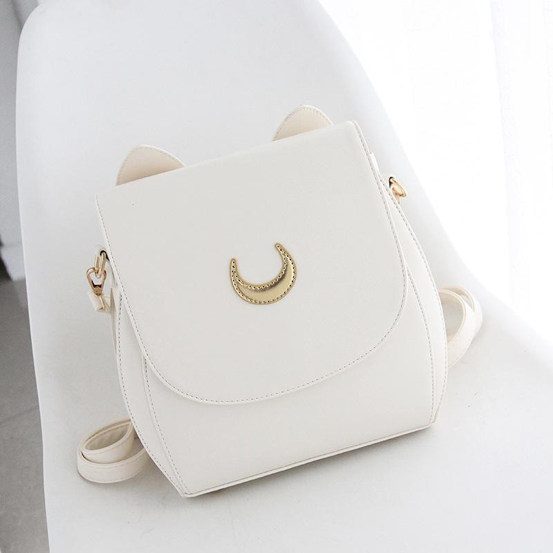 Adventure Moon Leather Backpack Backpack WickedAF Off-White