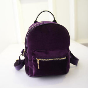 Purple Velvet Backpack backpack WickedAF