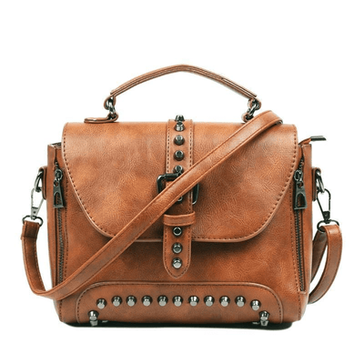 Crossbody Vintage Leather Rivet Shoulder Bag (6 Styles) bag WickedAF