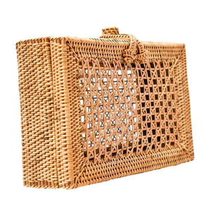 WickedAF Bags & Wallets EVIE Rattan Clutch