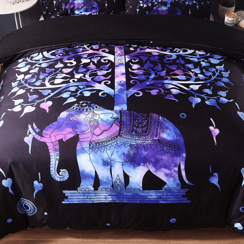 Elephant Tree Of Life Bedding Set 3pcs bedding set WickedAF