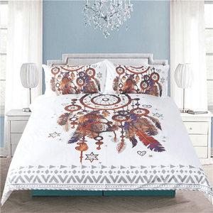 Feather Dreamcatcher Bedding Set 3pcs bedding set WickedAF