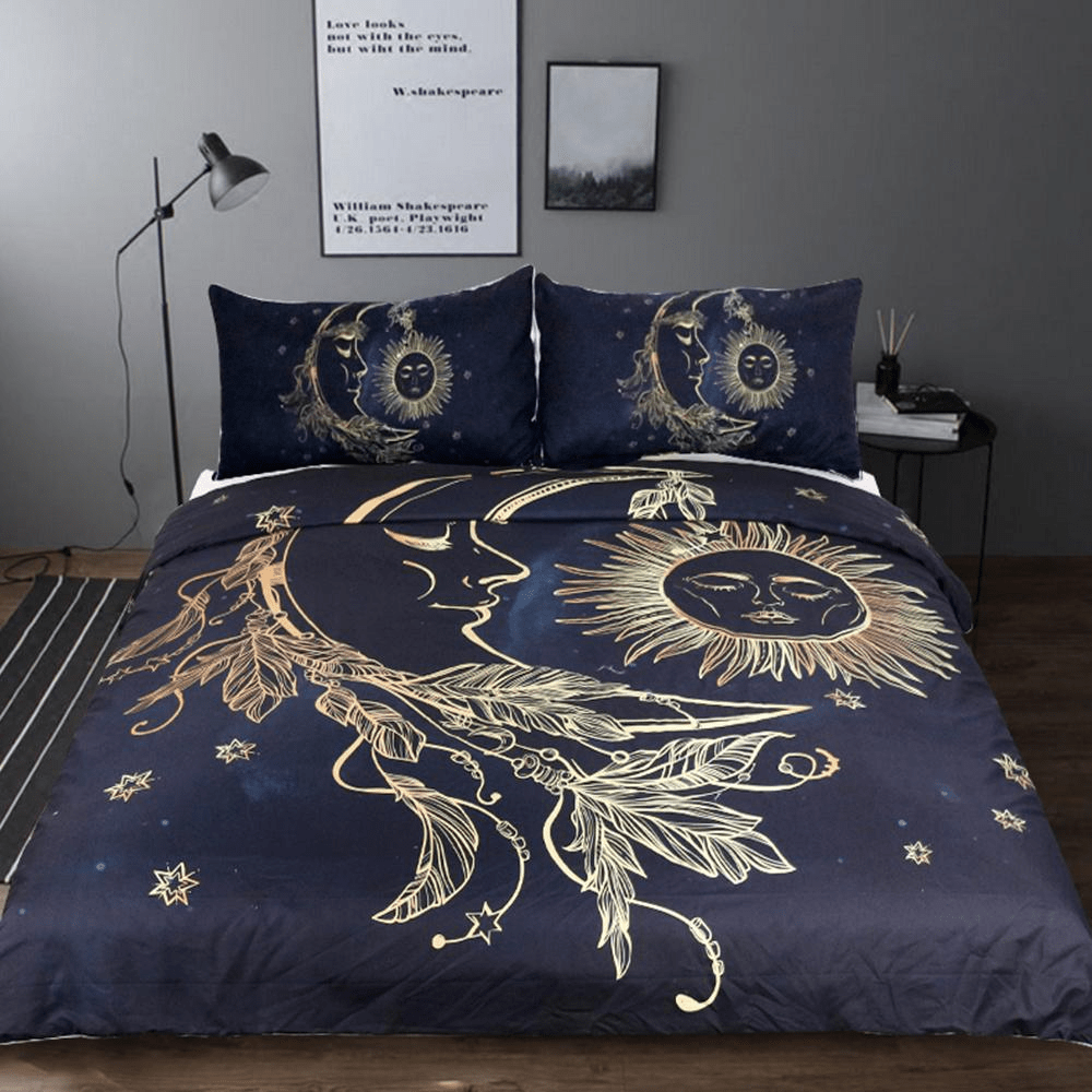 WickedAF bedding set Sun and Moon Bedding Set 3pcs