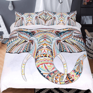 Tribal Elephant Bedding Set 3pcs bedding set WickedAF