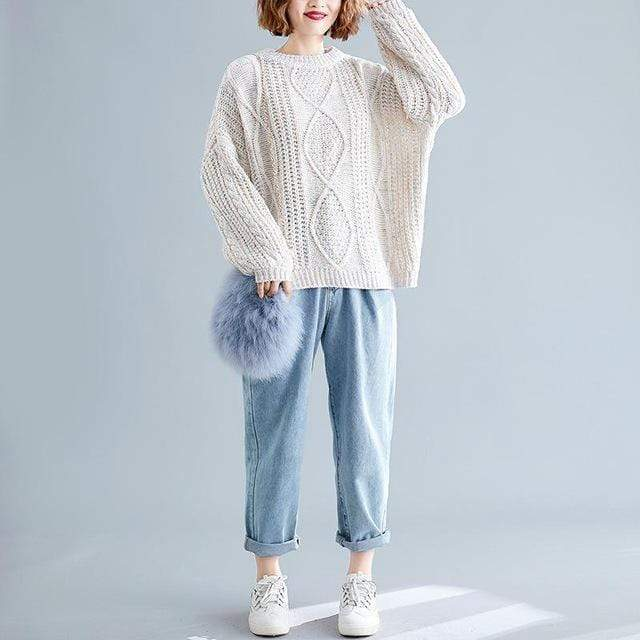 Chunky Speckled Sweater (4 Colors) WickedAF Beige