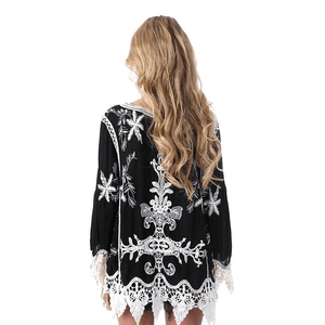 WickedAF blouse Hippie Crochet Lace Blouse