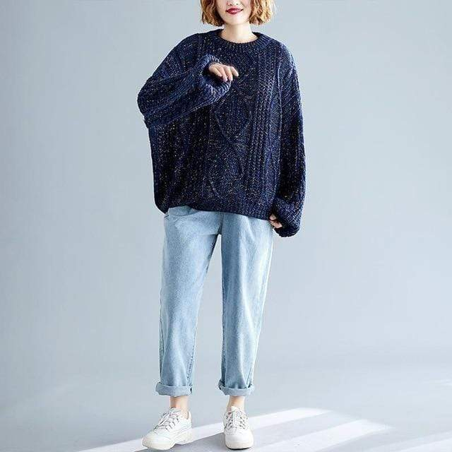 Chunky Speckled Sweater (4 Colors) WickedAF Blue