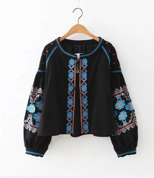 Bluebell Floral Embroidered Blouse WickedAF
