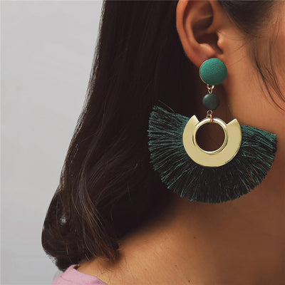 Boho Tassel Earrings with Gold Detail WickedAF