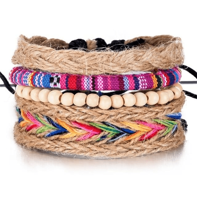 Hippie Multi-Layer Bracelet Set 4pcs bracelet WickedAF
