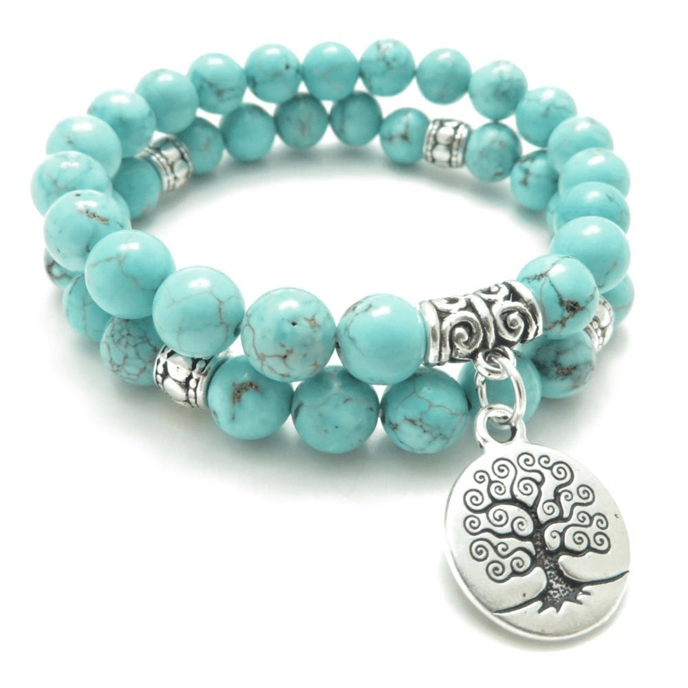 Turquoise Tree of Life Double Bracelet bracelet WickedAF