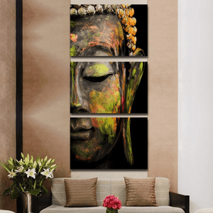 Buddha Statue Printed Canvas Painting 3pcs canvas painting WickedAF