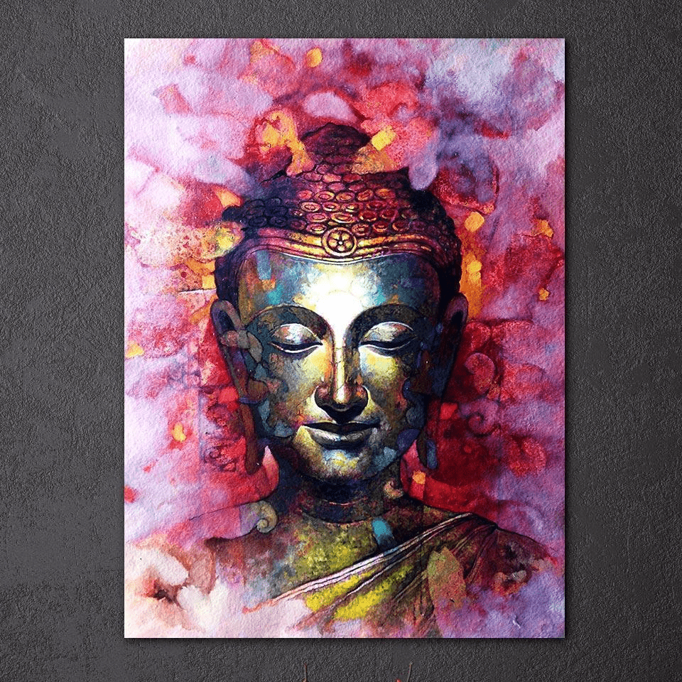 Color Splash Feng Shui Buddha Painting Canvas canvas painting WickedAF