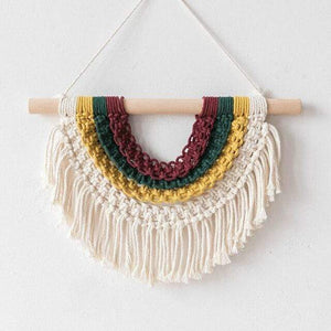 WickedAF color as picture-1 Adana Macrame Hanging Wall Art