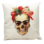 Frida Kahlo Skull Cushion Cover Cushion Cover WickedAF