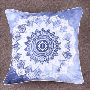 Blue Mandala Cushion Cover Cushion Cover WickedAF
