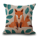 Fox Print Cushion Cover Cushion Cover WickedAF