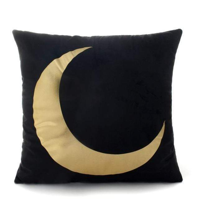 Crescent Moon Cushion Cover Cushion Cover WickedAF ONE Black