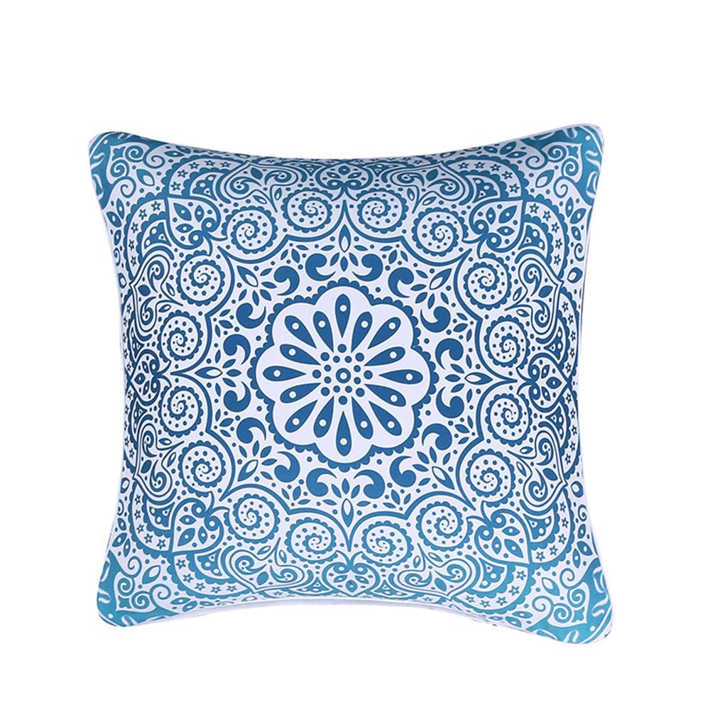 Sapphire Mandala Cushion Cover Cushion Cover WickedAF
