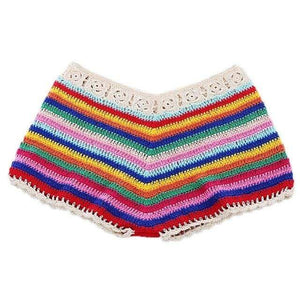 WickedAF Daisy Chain Multi Color Shorts
