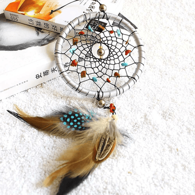 Iris Feather Pendant Dream Catcher dreamcatcher WickedAF
