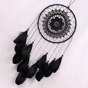 Handmade Black Feather Lace Indian Dream Catcher dreamcatcher WickedAF
