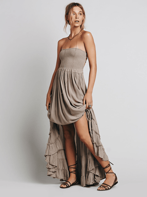 Lady Earth Maxi Dress dress WickedAF Gray S