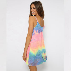 Pastel Rainbow Tie Dye Dress dress WickedAF