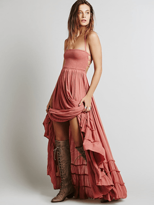 Lady Earth Maxi Dress dress WickedAF Pink S