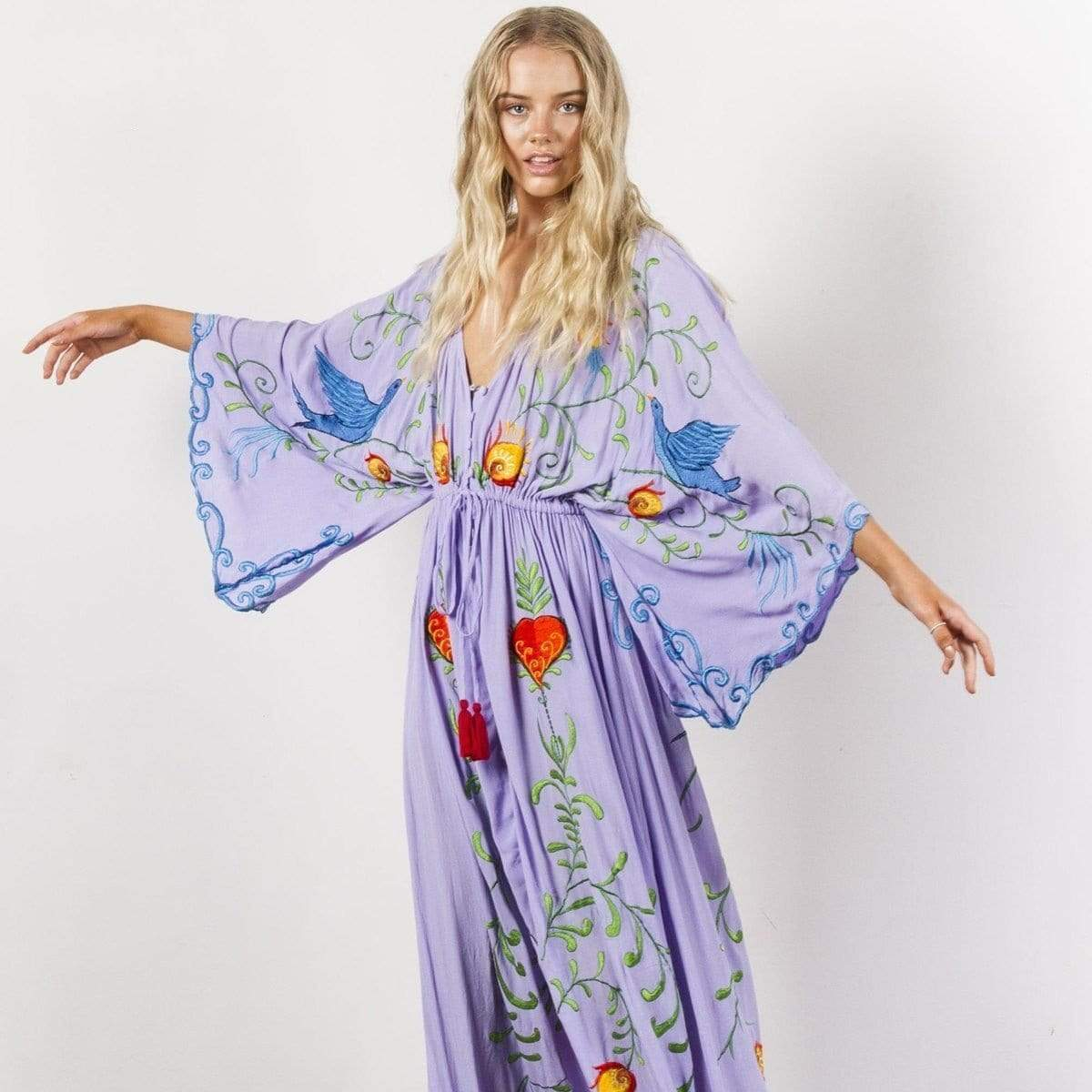 Free Spirit Boho Dress dress WickedAF Purple L
