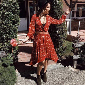 Claudine Vintage Dress dress WickedAF Red S