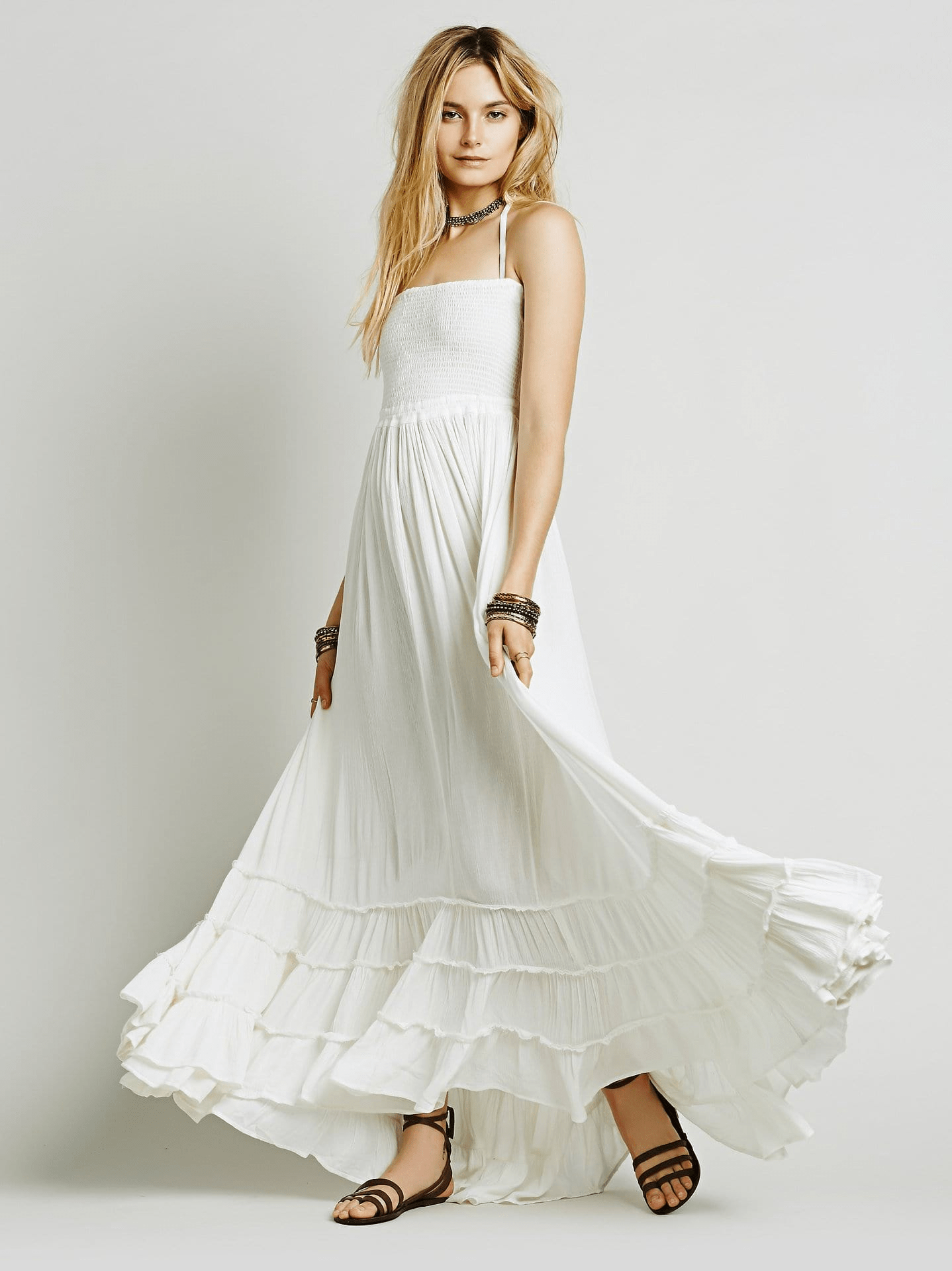 Lady Earth Maxi Dress dress WickedAF WHITE S