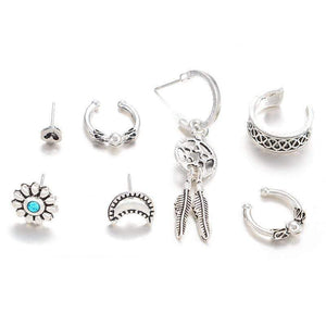 Bohemian Gypsy Earrings Set 7pcs earring set WickedAF