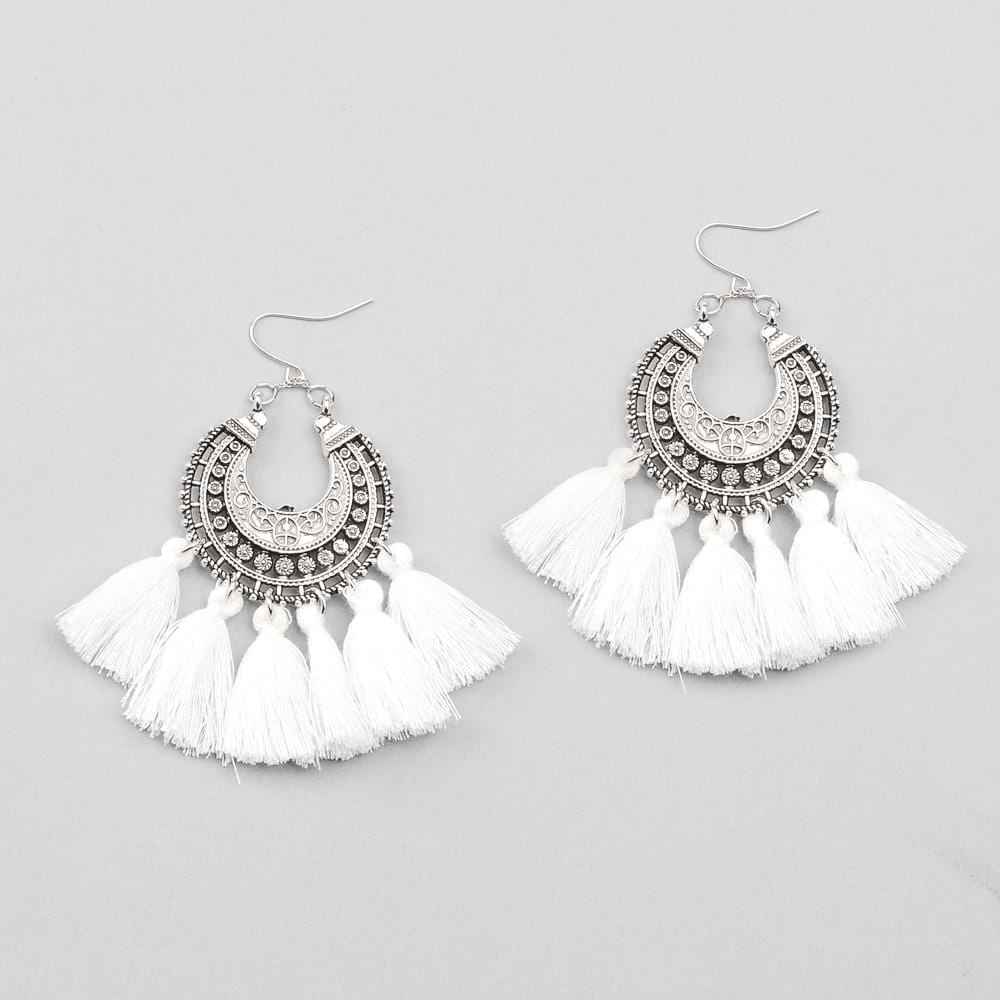 Bohemia Vintage Tassel Earrings earrings WickedAF